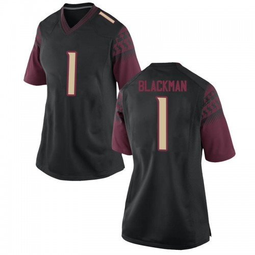 Women's Nike James Blackman Florida State Seminoles Game Black Football College Jersey