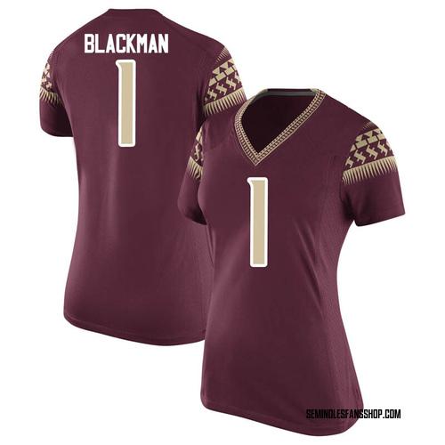 Women's Nike James Blackman Florida State Seminoles Replica Black Garnet Football College Jersey