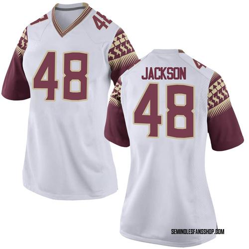 Women's Nike Jarrett Jackson Florida State Seminoles Game White Custom Football College Jersey