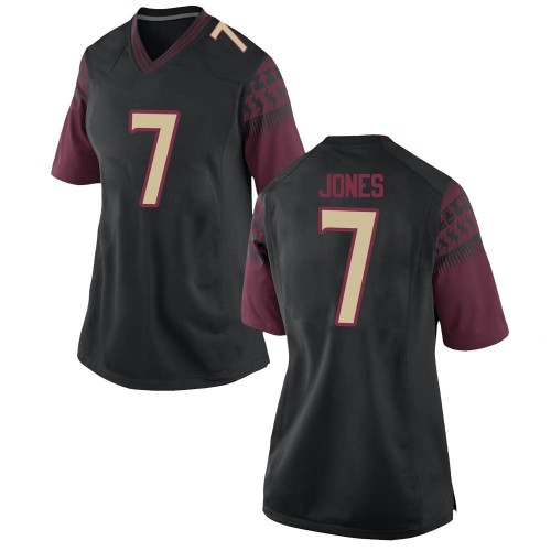 Women's Nike Jarrian Jones Florida State Seminoles Game Black Football College Jersey