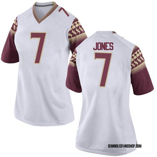 Women's Nike Jarrian Jones Florida State Seminoles Game White Custom Football College Jersey