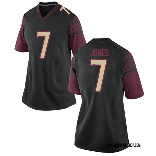 Women's Nike Jarrian Jones Florida State Seminoles Replica Black Football College Jersey
