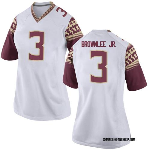 Women's Nike Jarvis Brownlee Jr. Florida State Seminoles Replica White Football College Jersey