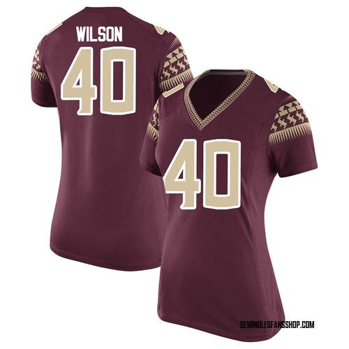Women's Nike Jordan Wilson Florida State Seminoles Game Garnet Football College Jersey