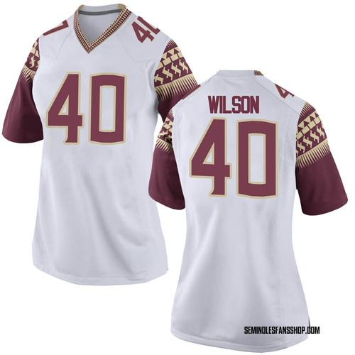 Women's Nike Jordan Wilson Florida State Seminoles Replica White Football College Jersey