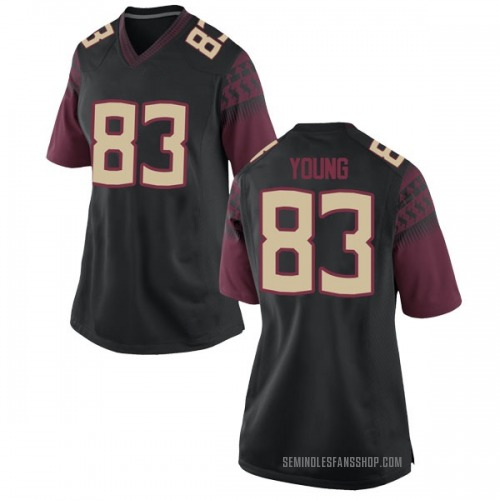Women's Nike Jordan Young Florida State Seminoles Game Black Football College Jersey