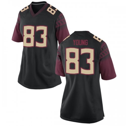 Women's Nike Jordan Young Florida State Seminoles Replica Black Football College Jersey