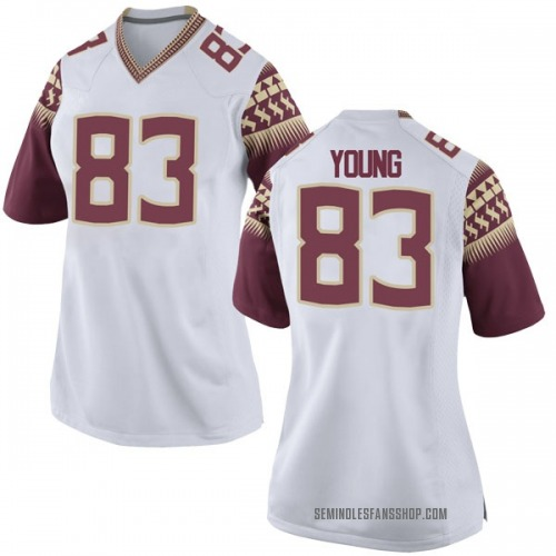 Women's Nike Jordan Young Florida State Seminoles Replica White Football College Jersey