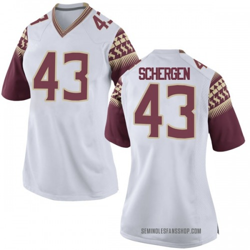 Women's Nike Joseph Schergen Florida State Seminoles Game White Football College Jersey