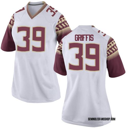 Women's Nike Josh Griffis Florida State Seminoles Replica White Football College Jersey