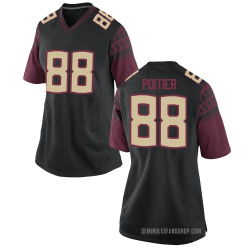 Women's Nike Kentron Poitier Florida State Seminoles Game Black Custom Football College Jersey