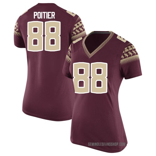 Women's Nike Kentron Poitier Florida State Seminoles Game Custom Garnet Football College Jersey