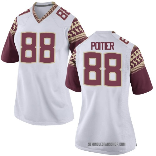 Women's Nike Kentron Poitier Florida State Seminoles Game White Custom Football College Jersey