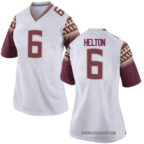 Women's Nike Keyshawn Helton Florida State Seminoles Game White Football College Jersey