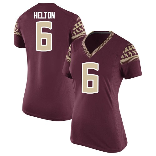 Women's Nike Keyshawn Helton Florida State Seminoles Replica Garnet Football College Jersey