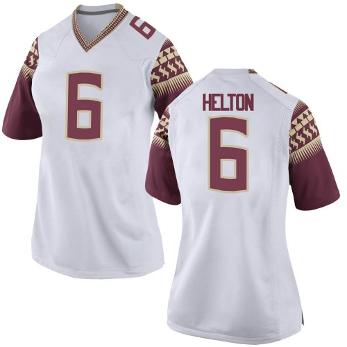 Women's Nike Keyshawn Helton Florida State Seminoles Replica White Football College Jersey