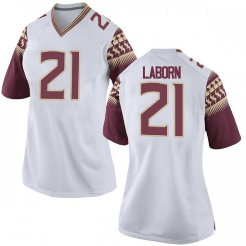Women's Nike Khalan Laborn Florida State Seminoles Replica White Football College Jersey