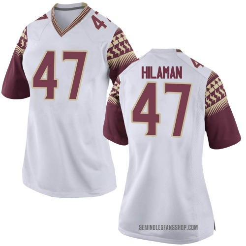 Women's Nike Marshall Hilaman Florida State Seminoles Game White Football College Jersey