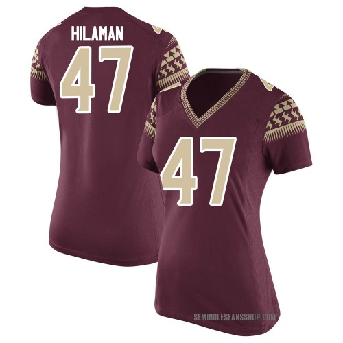 Women's Nike Marshall Hilaman Florida State Seminoles Replica Garnet Football College Jersey
