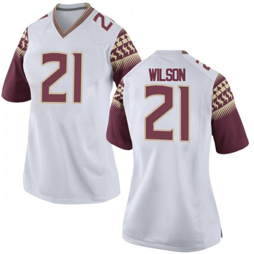 Women's Nike Marvin Wilson Florida State Seminoles Replica White Football College Jersey