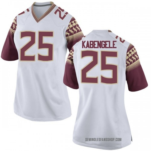 Women's Nike Mfiondu Kabengele Florida State Seminoles Game White Football College Jersey