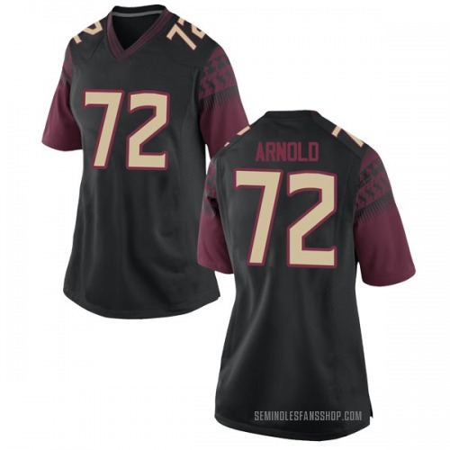 Women's Nike Mike Arnold Florida State Seminoles Game Black Football College Jersey