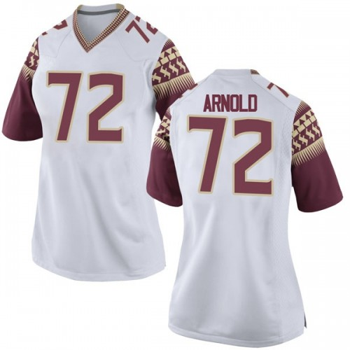 Women's Nike Mike Arnold Florida State Seminoles Game White Football College Jersey