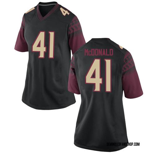 Women's Nike Nolan McDonald Florida State Seminoles Game Black Football College Jersey
