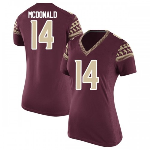 Women's Nike Nolan McDonald Florida State Seminoles Replica Garnet Football College Jersey