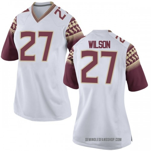 Women's Nike Ontaria Wilson Florida State Seminoles Game White Football College Jersey