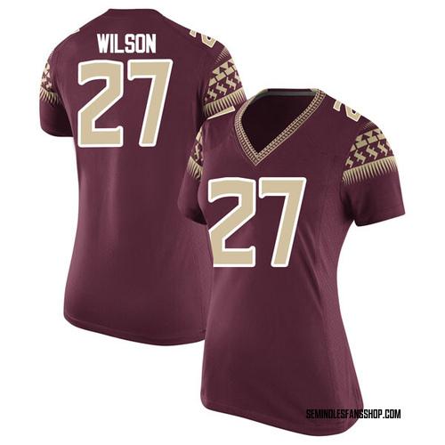 Women's Nike Ontaria Wilson Florida State Seminoles Replica Garnet Football College Jersey