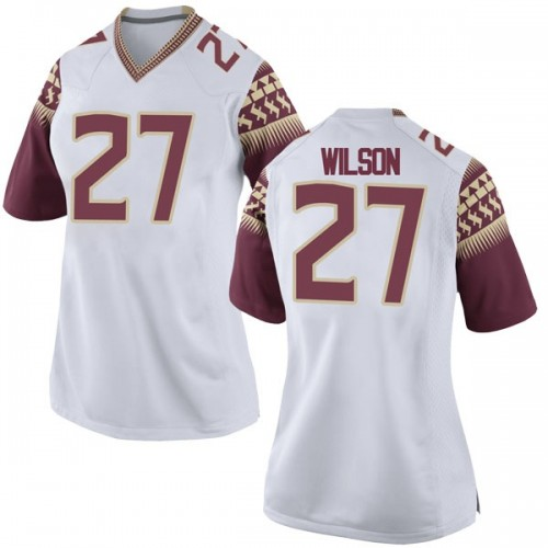 Women's Nike Ontaria Wilson Florida State Seminoles Replica White Football College Jersey