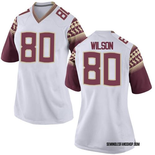 Women's Nike Ontaria Wilson Florida State Seminoles Replica White Football College Jersey