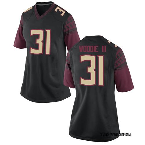 Women's Nike Raymond Woodie III Florida State Seminoles Game Black Football College Jersey