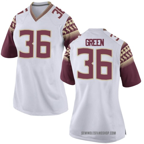 Women's Nike Renardo Green Florida State Seminoles Replica White Football College Jersey