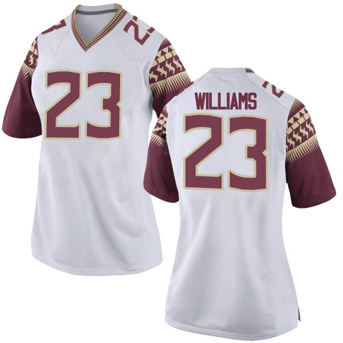 Women's Nike Sidney Williams Florida State Seminoles Game White Custom Football College Jersey