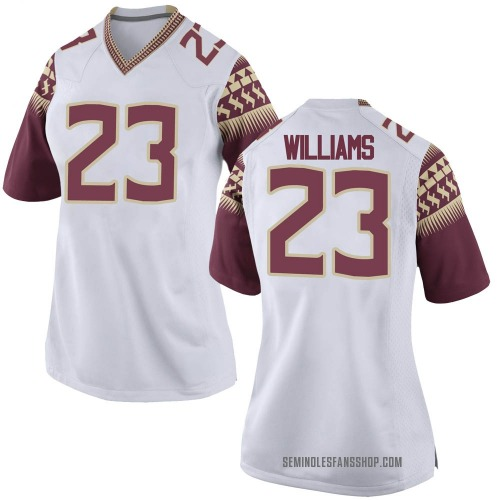Women's Nike Sidney Williams Florida State Seminoles Game White Football College Jersey