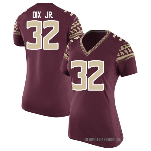 Women's Nike Stephen Dix Jr. Florida State Seminoles Game Garnet Football College Jersey