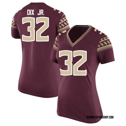 Women's Nike Stephen Dix Jr. Florida State Seminoles Replica Custom Garnet Football College Jersey