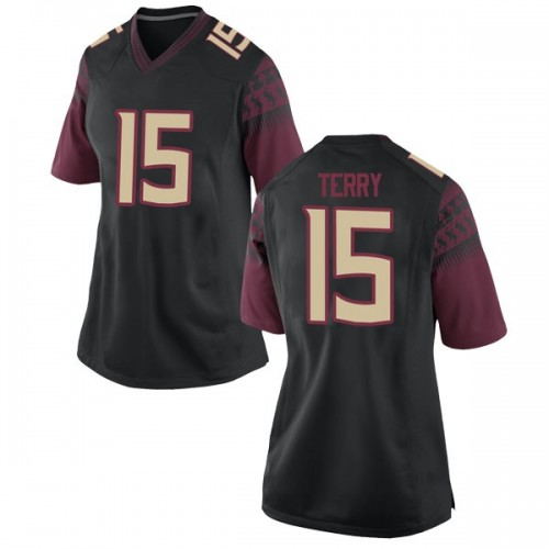 Women's Nike Tamorrion Terry Florida State Seminoles Replica Black Football College Jersey
