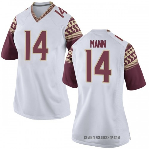 Women's Nike Terance Mann Florida State Seminoles Game White Football College Jersey