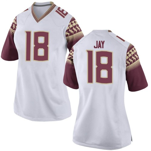 Women's Nike Travis Jay Florida State Seminoles Game White Football College Jersey