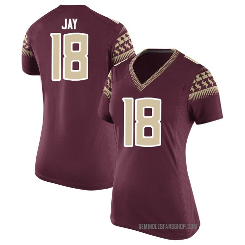 Women's Nike Travis Jay Florida State Seminoles Replica Garnet Football College Jersey