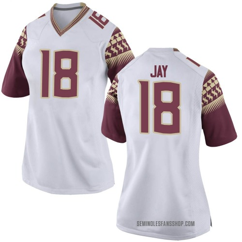 Women's Nike Travis Jay Florida State Seminoles Replica White Football College Jersey