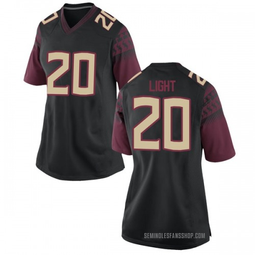 Women's Nike Travis Light Florida State Seminoles Replica Black Football College Jersey