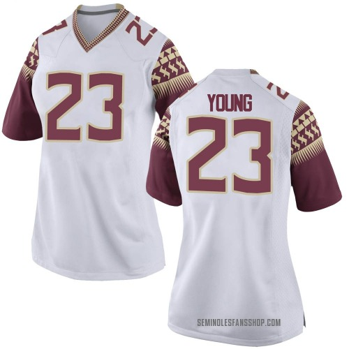 Women's Nike Tre Young Florida State Seminoles Game White Football College Jersey