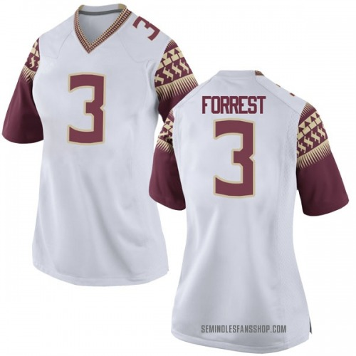 Women's Nike Trent Forrest Florida State Seminoles Game White Football College Jersey