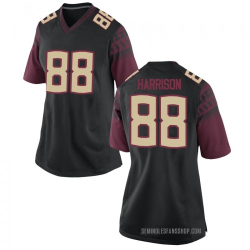 Women's Nike Treshaun Harrison Florida State Seminoles Game Black Football College Jersey