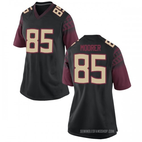 Women's Nike Tyrell Moorer Florida State Seminoles Game Black Football College Jersey