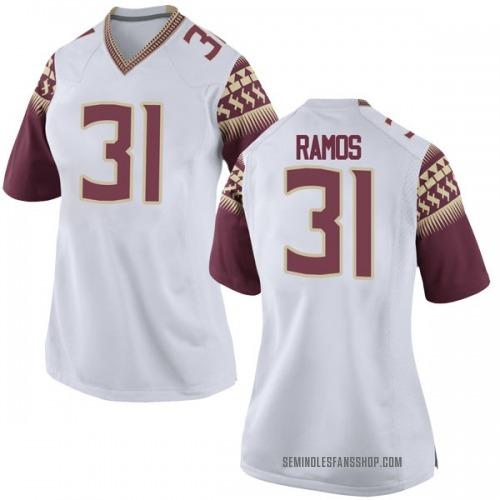 Women's Nike Yanni Ramos Florida State Seminoles Game White Football College Jersey